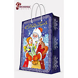 """Подарочный пакет """"Дед Мороз"""" 17,8*22,9*9,8 см"""