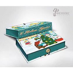 "Подарочная коробка ""Снеговики и ёлочка"" 18*12*5 см"
