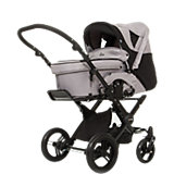Kombi Kinderwagen Ancona, grey black