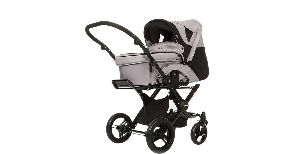 Kombi Kinderwagen Ancona, grey black grau