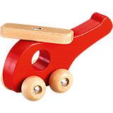 Holz-Hubschrauber, rot