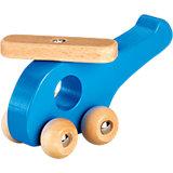 Holz-Hubschrauber, blau