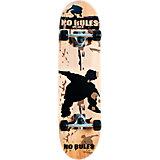 No Rules Skateboard, ABEC 5 mit Rucksack