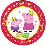"""Набор тарелок """"Пеппа-принцесса"""" (23 см, 6 шт)"""