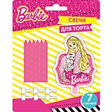 """Набор свечей """"Barbie"""" (1фигурная + 6шт * 6см)"""