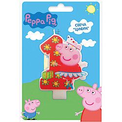 Свеча-цифра №1, Свинка Пеппа