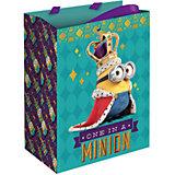 """Подарочный пакет """"Миньон-монарх"""" 23*18*10 см"""