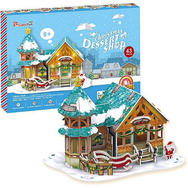 Рождественский домик 3, с подсветкой, CubicFun