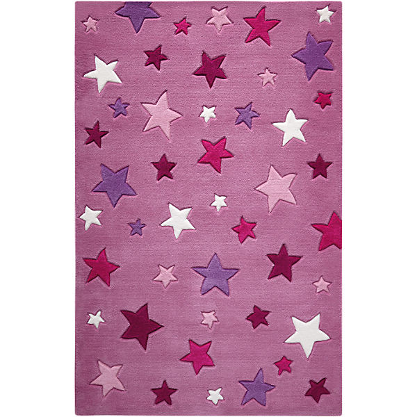 Teppich Simple Stars, pink