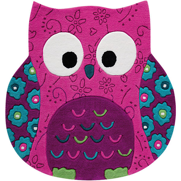 Teppich Little Owl, pink, 100 x 100cm, SMART KIDS  myToys