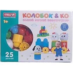 """Конструктор """"Колобок и компания"""" 25 деталей, Стеллар"""