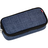 4YOU Pencil Case mit Geodreieck Pixel Blue