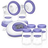2in1 Elektrische Milchpumpe inkl. 4 Muttermilchflaschen