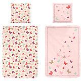 Wende- Kinderbettwäsche Schmetterlinge, Renforcé, rosa, 135 x 200 cm