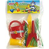 Gießkanne mit Gartenzubehör