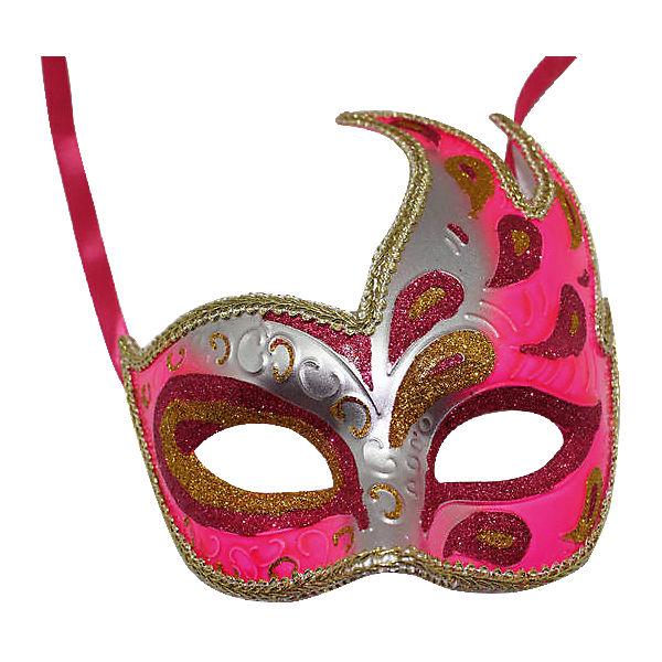 """Карнавальная маска """"Жар-птица"""", розовая"""