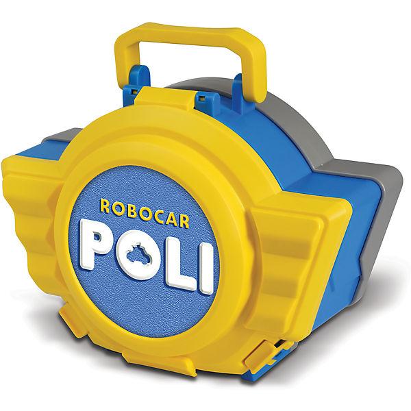 Кейс с гаражом и  трансформером Робокар Поли, 12 см