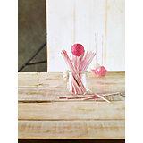 Lolli-Sticks rosa gestreift, 48 Stück