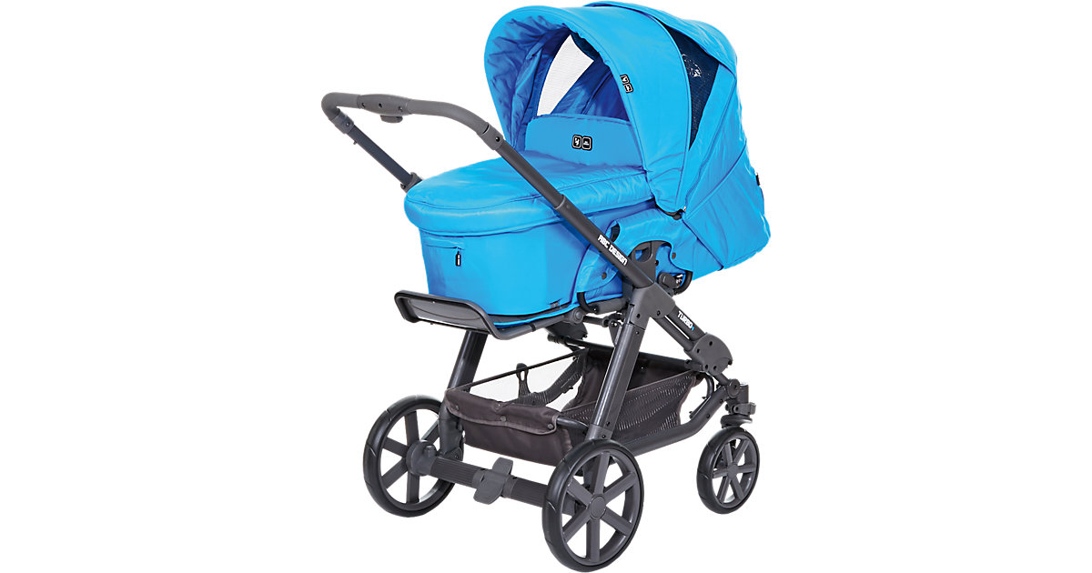 Kombi Kinderwagen Turbo 4, fashion-water, 2016 blau