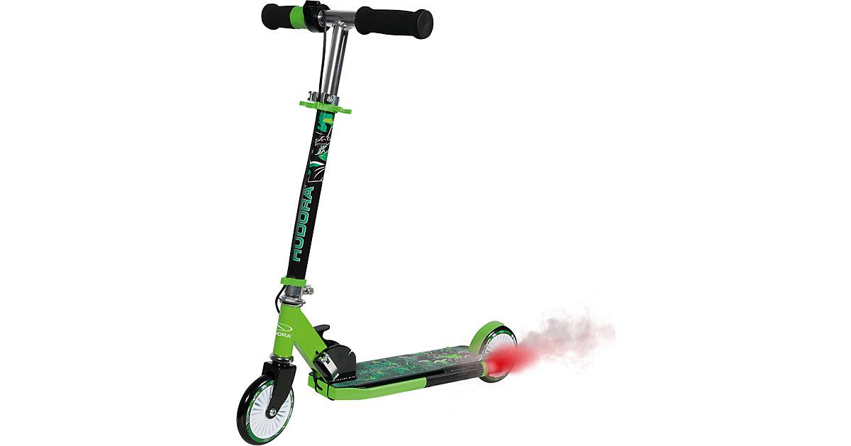 Scooter Street Dragon mit Motorengeräusch und Auspuff grün