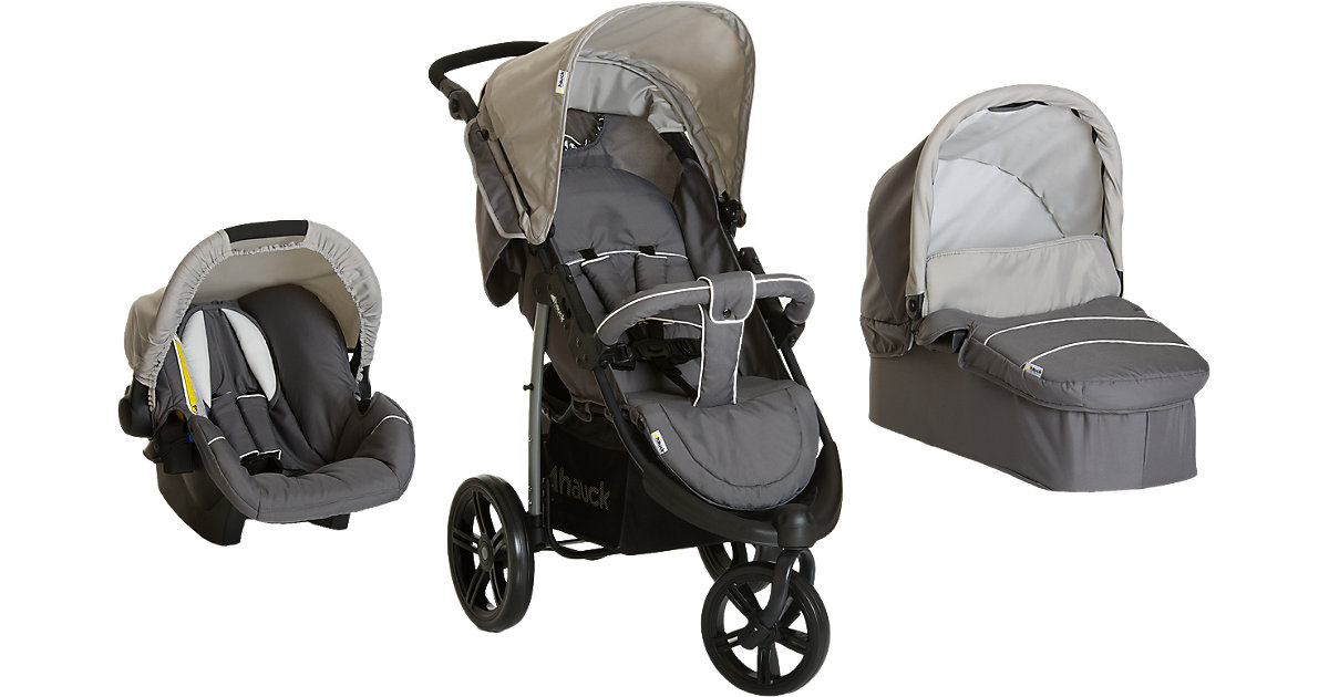 Kombi Kinderwagen Viper SLX Trio Set, smoke/grey, 2016 grau