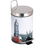 """Ведро для мусора круглое DB-21 """"Лондон"""" 3л, Рыжий кот"""