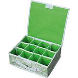 Коробка для хранения нижнего белья (12 ячеек) с откидной крышкой, NWH-1, Рыжий Кот