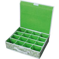 Коробка для хранения нижнего белья (16 ячеек) с откидной крышкой NWH-2, Рыжий Кот