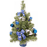 Ель 51 см с синим декором
