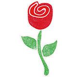 """Наклейка на окно """"Роза"""""""