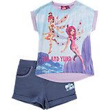 MIA AND ME Set T-Shirt + Shorts für Mädchen