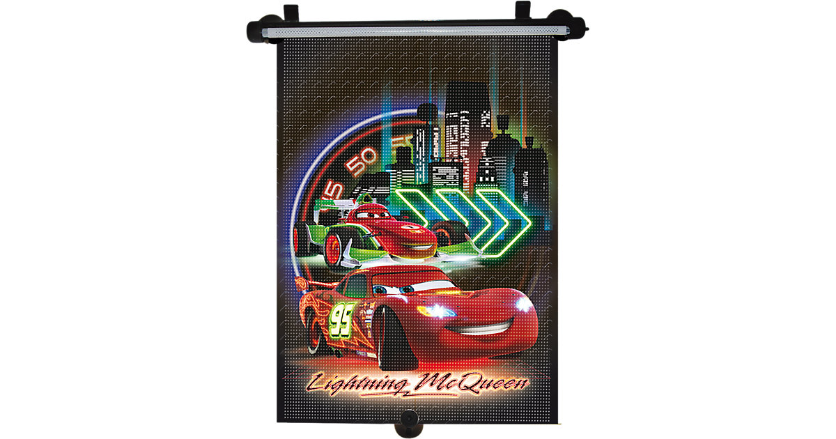 Sonnenrollo, Cars Neon mehrfarbig