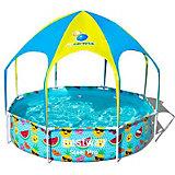 Frame Pool Splash-in-Shade mit Sonnendach und Sprinkler 244 x 51cm