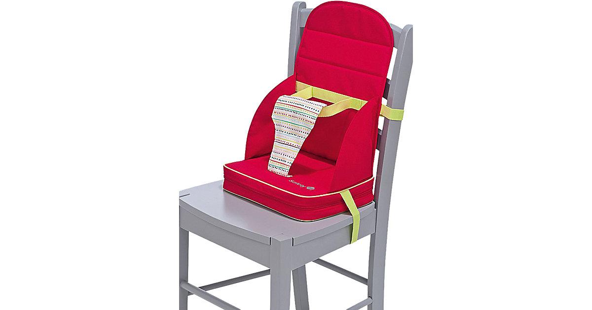 Babystuhlsitz Travel Booster, red dot rot