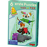 HABA 6 erste Puzzle - Tier auf Tier
