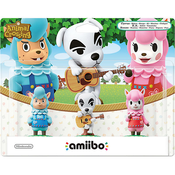 amiibo 3er Figuren-Set - K.K., Rosina & Björn (Animal Crossing)