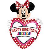 XL Folienballon Happy Birthday Minni Maus, personalisiert