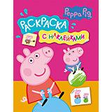 "Раскраска ""Свинка Пеппа"" с наклейками (розовая)"