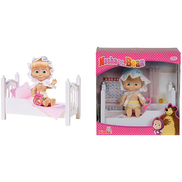 Кукла Маша с кроваткой, Маша и Медведь, Simba