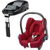 Babyschale Cabriofix, robin red, inkl. FamilyFix