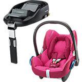 Babyschale Cabriofix, berry pink, inkl. FamilyFix