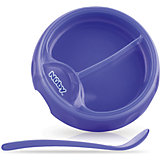 Двухсекционная  тарелка с ложкой, Nuby, фиолетовый