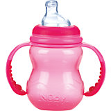 Полипропиленовая бутылочка с ручками, Nuby, 240 мл, розовый