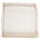 Laufgittereinlage Sterne, beige, 70 x 100 cm