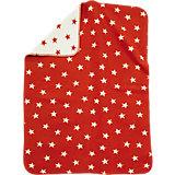 Babydecke mit UV-Schutz, Baumwolle, Sterne rot, 75 x 100 cm