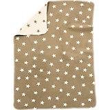 Babydecke mit UV-Schutz, Baumwolle, Sterne beige, 75 x 100 cm
