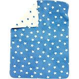Babydecke mit UV-Schutz, Baumwolle, Sterne blau, 75 x 100 cm
