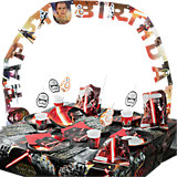 Partyset Star Wars The Force Awakens; 56-tlg.