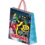 """Подарочный пакет """"Трансформеры"""" 28*34*9 см"""