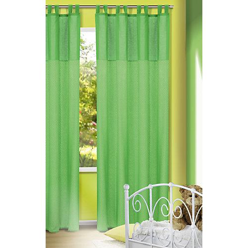 Vorhang Punkte grün 245x135 (1 Schal) Gr. 245 x 135